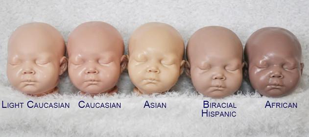 كيف اعرف لون بشرة الطفل حديث الولادة