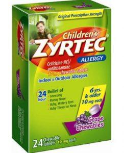 زيرتك Zyrtec للرضع